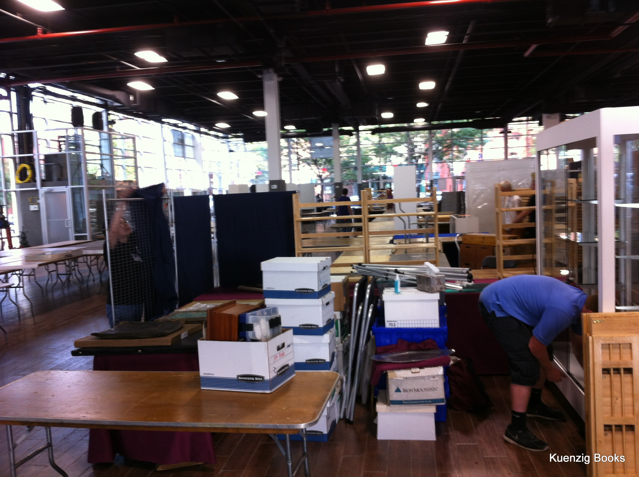 Kuenzig Books booth setup.