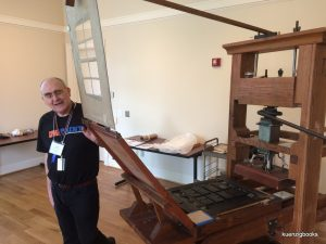 rare book school hand press demonstration