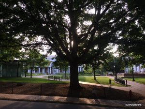 University of Virginia campus outside library